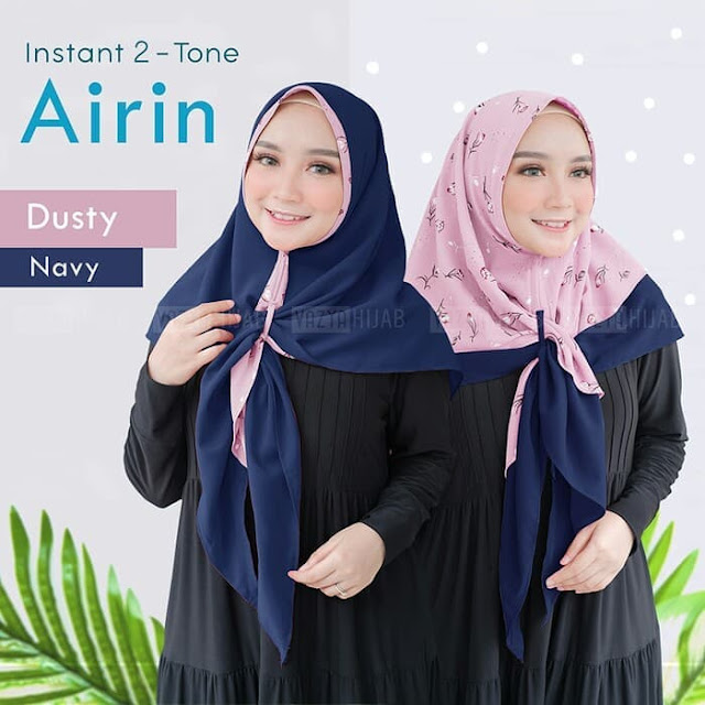 Jilbab Instan Bolak Balik Dua Warna by Jilbab Airin Murah