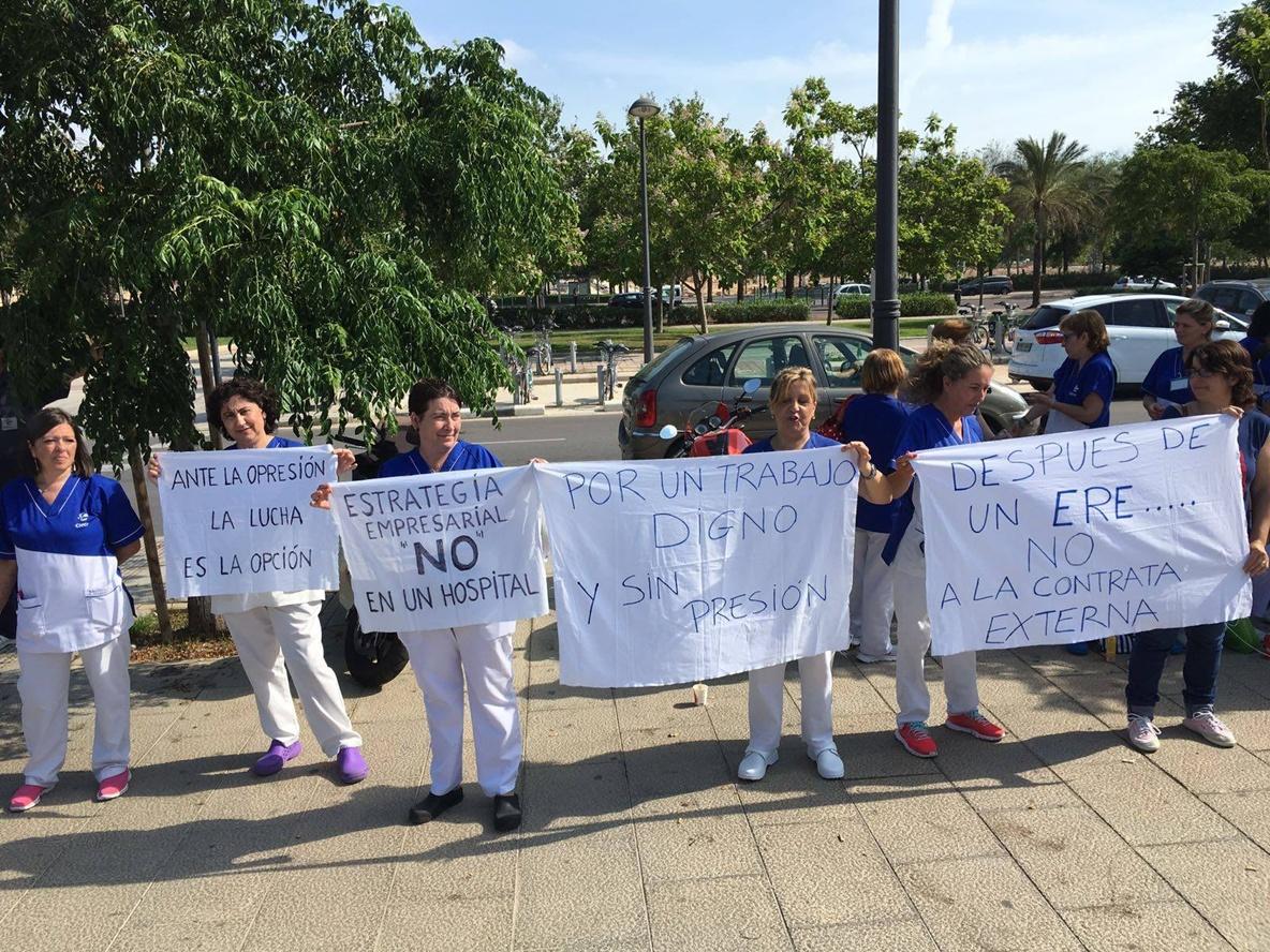 El personal de limpieza de la fe se moviliza contra las for Empresas de limpieza en valencia que necesiten personal
