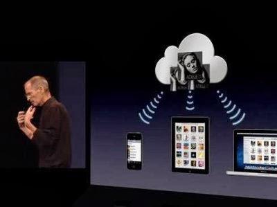 Steve Jobs introducing iCloud.