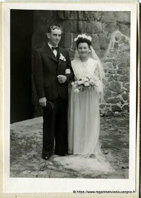 Photo de mariage noir et blanc, A. Heurteux saint éloy les mines