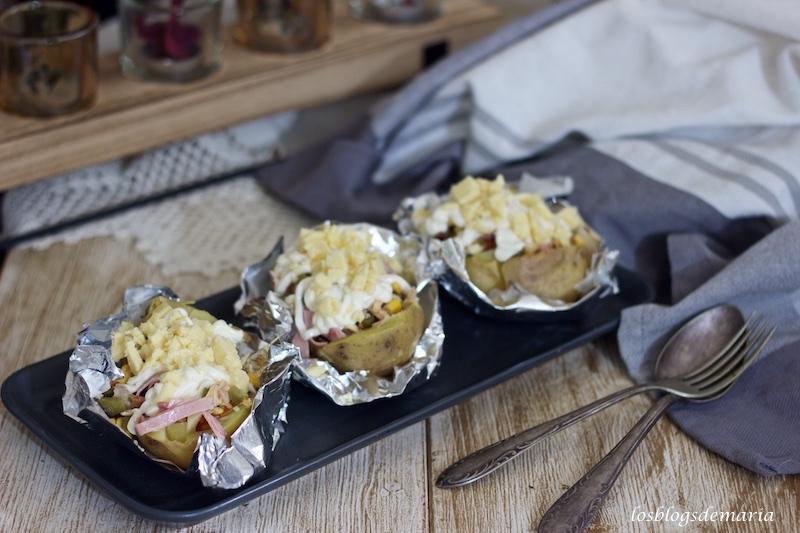 Patatas rellenas estilo feria