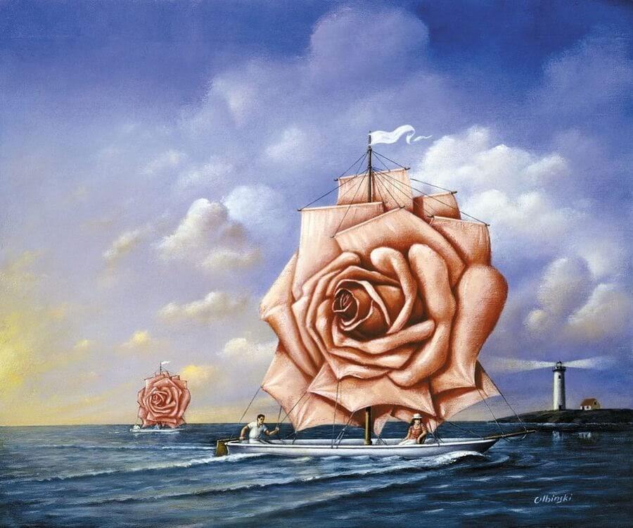 07-Rose-sailing-boats-Rafal-Olbinski-www-designstack-co
