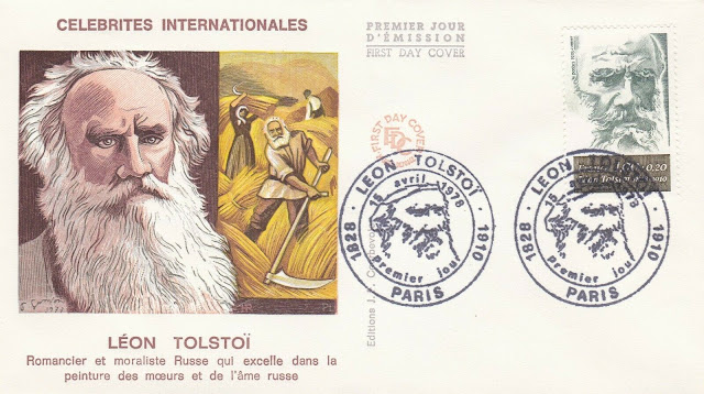 Tolstoy Russian Writer French FDC