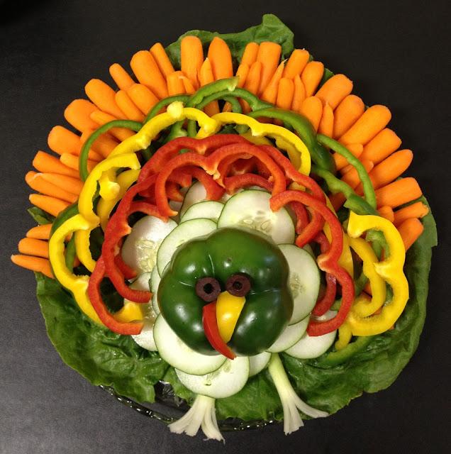 Turkey Crudite Platter
