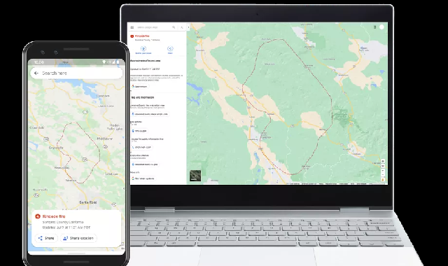 Google Maps will now show wildfire boundaries