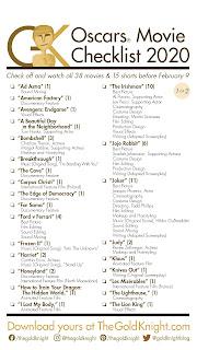 2020 Oscars Movie Checklist Instagram Story