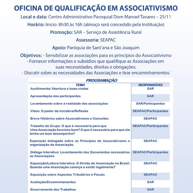 OFICINA DE QUALIFICAÇÃO EM ASSOCIATIVISMO