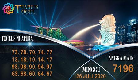 Prediksi Tembus Togel SGP Minggu 26 Juli 2020