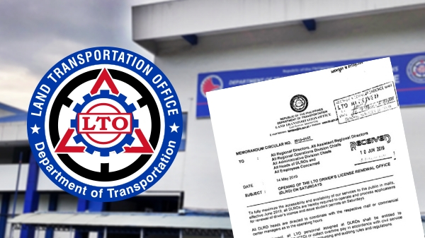 LTO driver's license renewal centers in malls to open on Saturdays