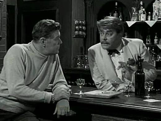 Willard Parker and Thorley Walters in The Earth Dies Screaming, 1964