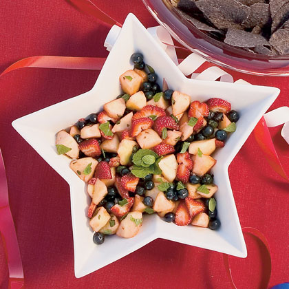 Red, White and Blueberry Fruit Salad Recipe