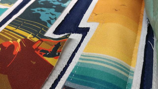 Raw edge applique using monofilament thread