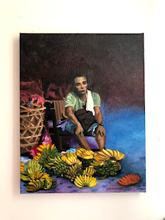 The Banana Vendor - Copyright Christine Ong-Dijcks