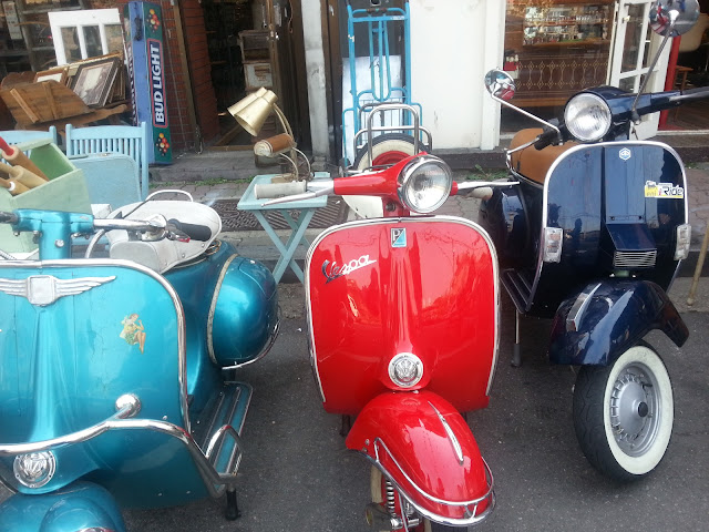 Shiny scooters at Itaewon