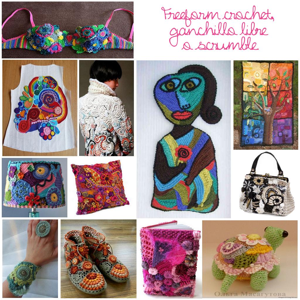 Inspiracion freeform crochet scrumble