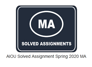 AIOU Solved Assignment Spring 2020 MA