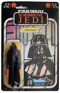 Darth Vader TOP TOYS card - El Regreso del Jedi - Argentina
