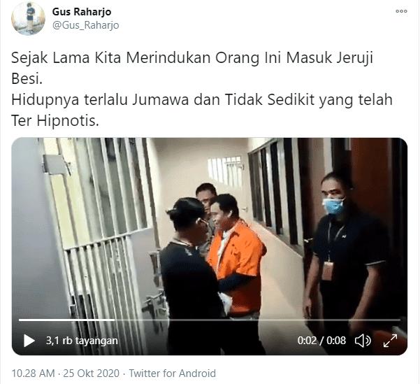 Beredar video melas Gus Nur tak berdaya masuk ke dalam sel tahanan