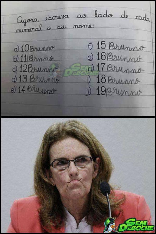 FIZ O QUE ESTAVA ESCRITO, PROFESSORA