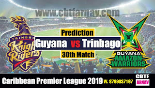Today Match Prediction CPL 2019 Trinbago vs Guyana 30th
