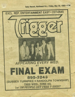Trigger at The Final Exam rock club