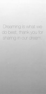 Dreaming is what we do best, thank you for sharing in our dream Walt Disney Quote