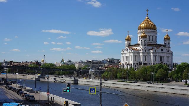 Фото Храма Христа Спасителя, вид со стороны моста