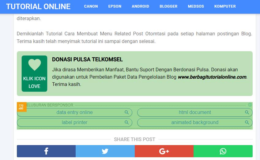 Kotak Donasi Pulsa dan Paypal
