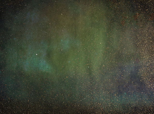 gold and green texture with stars