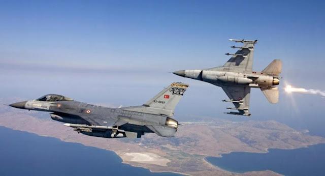 Τουρκικά F-16 πέταξαν 10 φορές πάνω από τον Έβρο