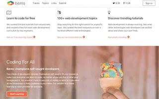 Situs belajar coding gratis Bento.io
