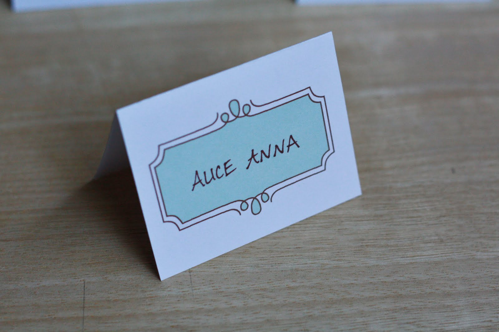 Satisfactory image inside place card printable