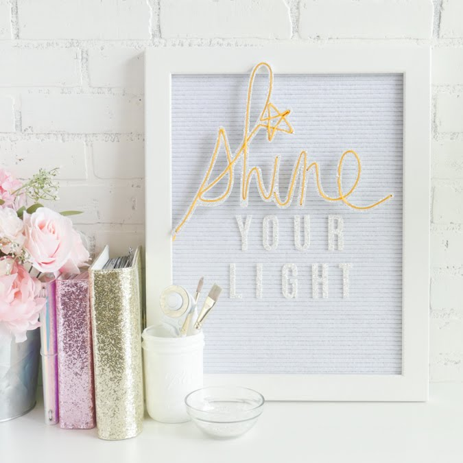 How To Sparkle and Shine with Heidi Swapp Neon Wall Words by Jamie Pate | @jamiepate for @heidiswapp