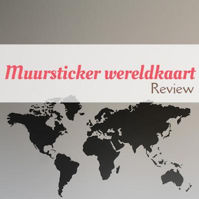 Muursticker wereldkaart - Review