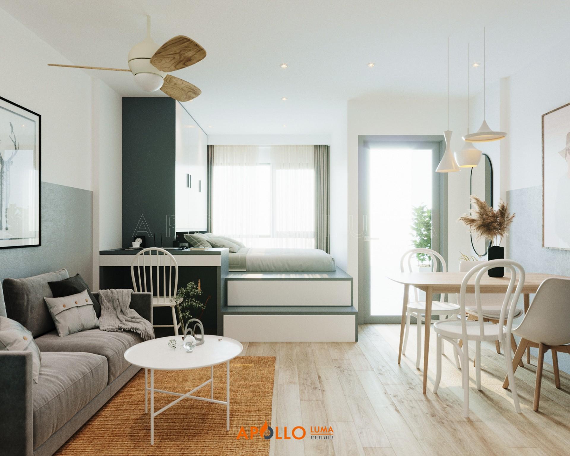 Thiết kế nội thất căn hộ Studio (28m2) S3.02-10 Vinhomes Smart City