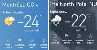 Montreal vs North Pole