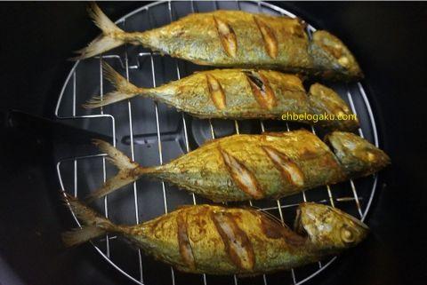 goreng ikan tanpa minyak, air fryer ikan goreng, Fried fish