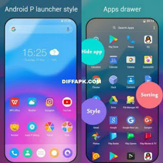 Super P Launcher for Android P 9.0 launcher, theme Apk v6.9 [Premium] [Latest]