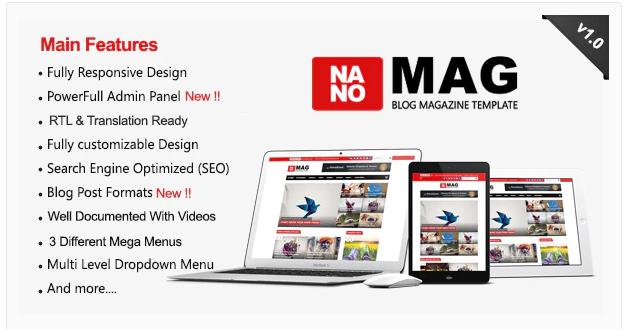 NanoMag Template Blogger Responsive Magazine
