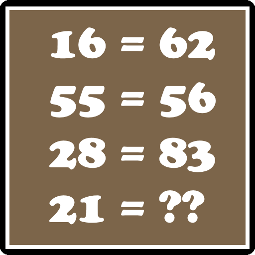 Answer logical math puzzle / riddle
