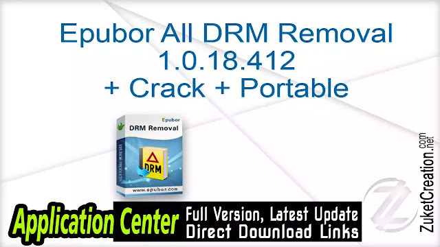 Epubor All DRM Removal 1.0.18.412 + Crack + Portable