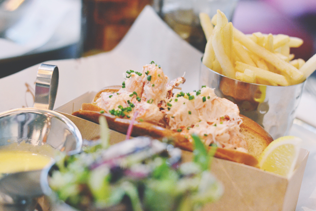 Lobster roll at Burger and Lobster