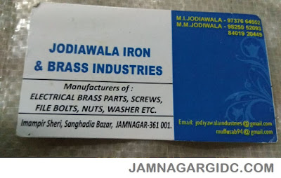 JODIAWALA IRON & BRASS INDUSTRIES - 9825052093