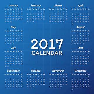 2017カレンダー無料テンプレート131