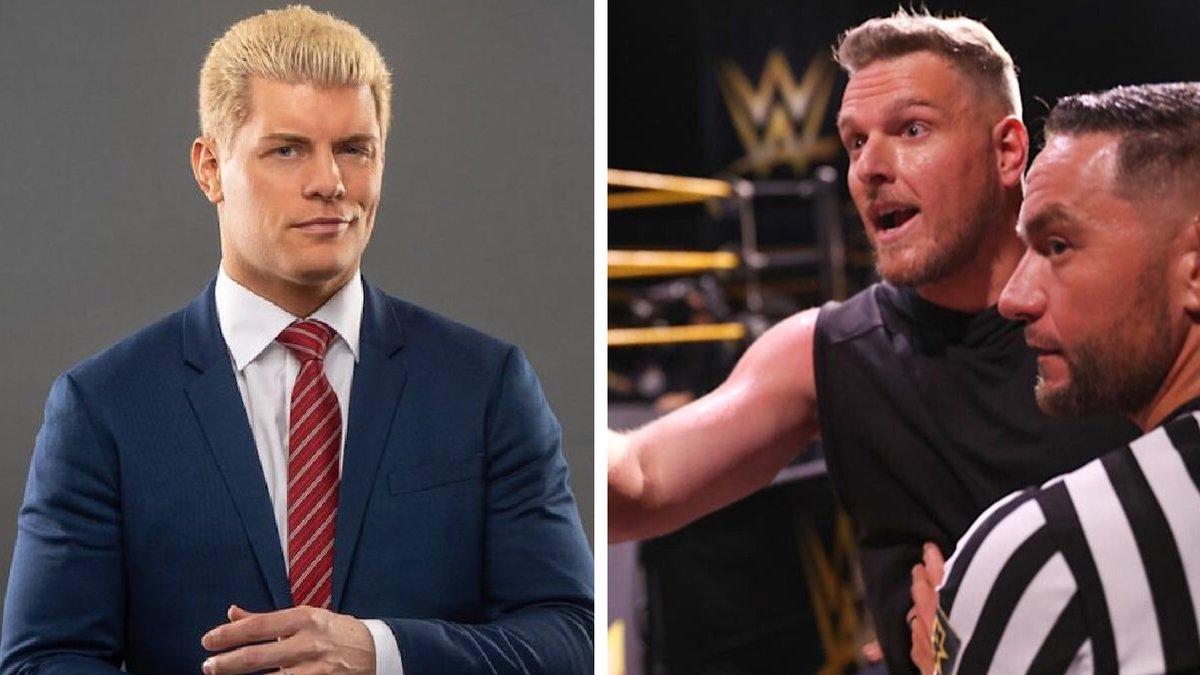 Cody Rhodes diz que Pat McAfee está tentando entrar na AEW; McAfee responde