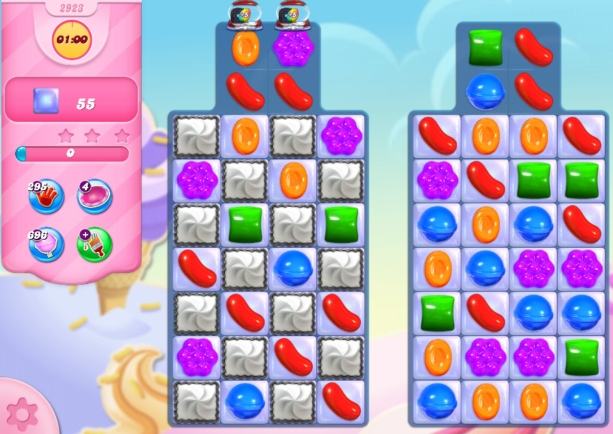 Candy Crush Saga level 2923