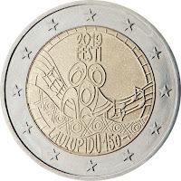 viro 2 euroa laulu festivaalit 150 vuotta erikoiseuro
