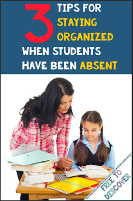 Read this blog post for 3 tips for staying organized when students have been absent. Perfect for the secondary classroom.