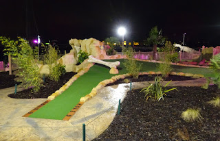 Dino Falls Adventure Golf at the Trafford Golf Centre in Manchester