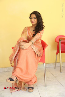 Telugu Actress Santoshi Sharma Latest Stills in Salwar Kameez at HBD Movie Teaser Launch  0119.JPG
